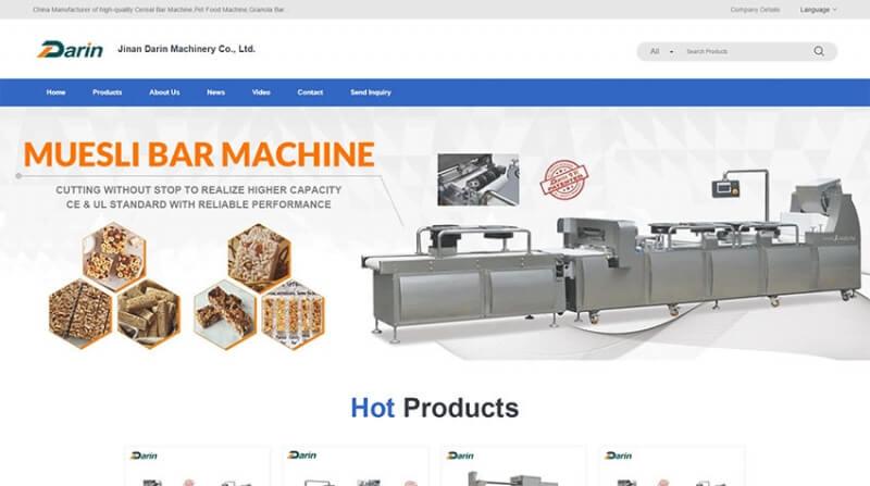 达润机械外贸品牌站